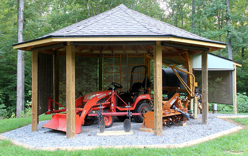 Tractor Shelters Storage Sheds : Octagonal tractor shed