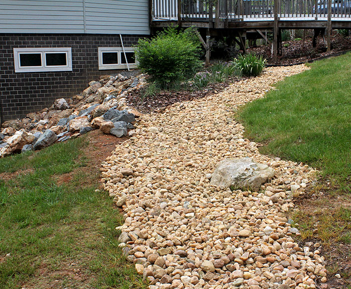 How To Landscape On A Slope With Rock : Project landscaping